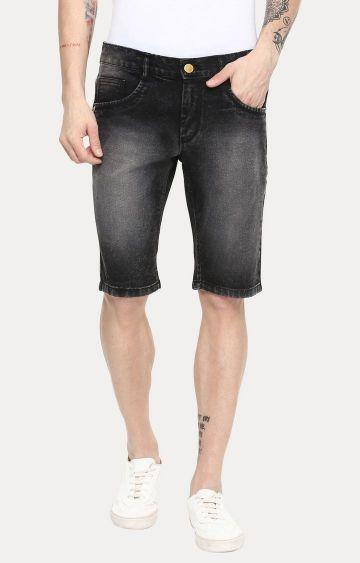 Urbano Fashion | Black Solid Shorts