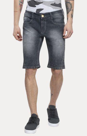 Urbano Fashion   Dark Grey Solid Shorts