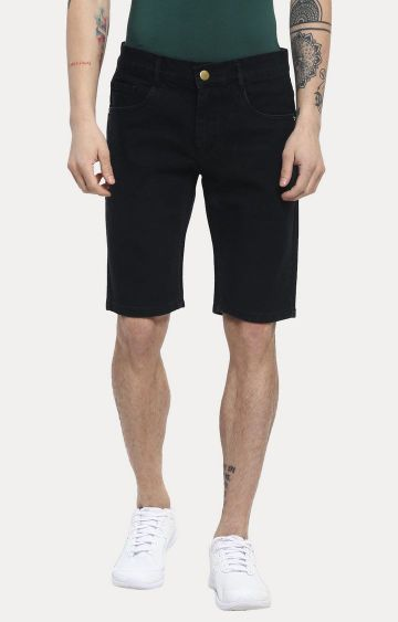 Urbano Fashion   Black Solid Shorts
