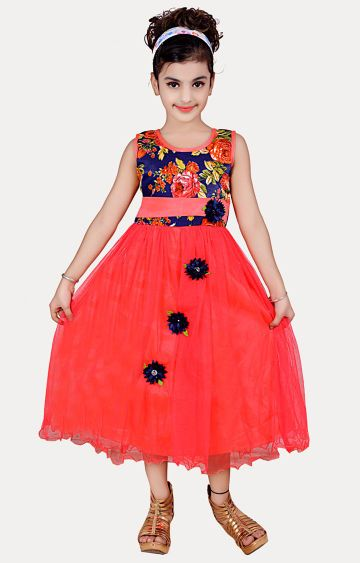 KBKIDSWEAR | Red Printed Dress