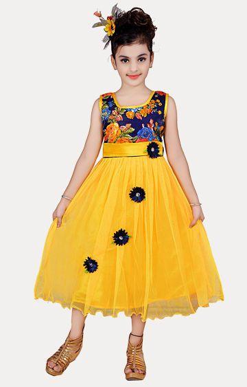 KBKIDSWEAR | Yellow Printed Dress