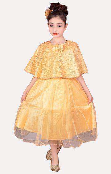 KBKIDSWEAR   Golden Full Length Party Wear Gown