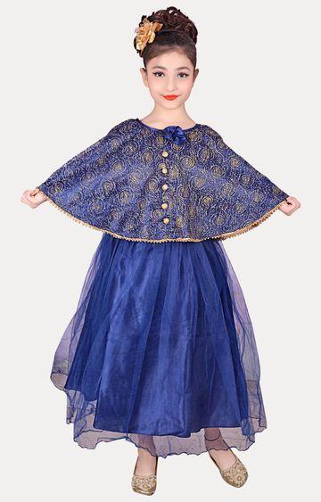 KBKIDSWEAR | Blue Full Length Party Wear Gown