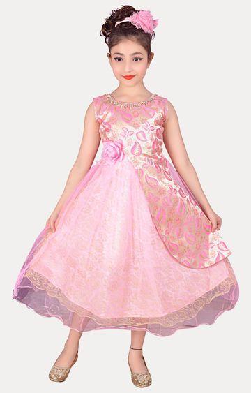 KBKIDSWEAR | Pink Full Length Party Wear Gown