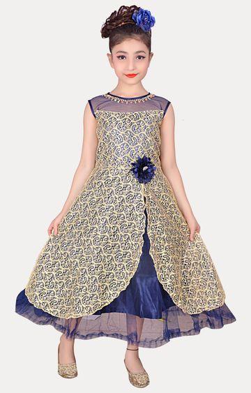 KBKIDSWEAR | Cream Full Length Party Wear Gown