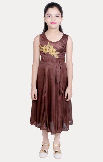 KBKIDSWEAR | Brown Printed Dress