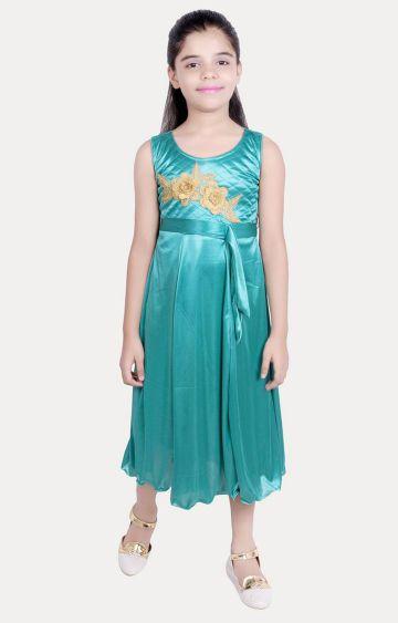 KBKIDSWEAR | Turquoise Printed Dress