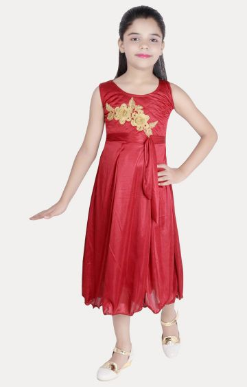 KBKIDSWEAR | Maroon Printed Dress