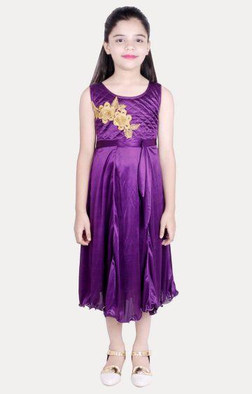 KBKIDSWEAR | Purple Printed Dress