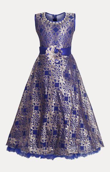 KBKIDSWEAR | Blue Printed Dress