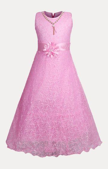 KBKIDSWEAR | Pink Solid Dress
