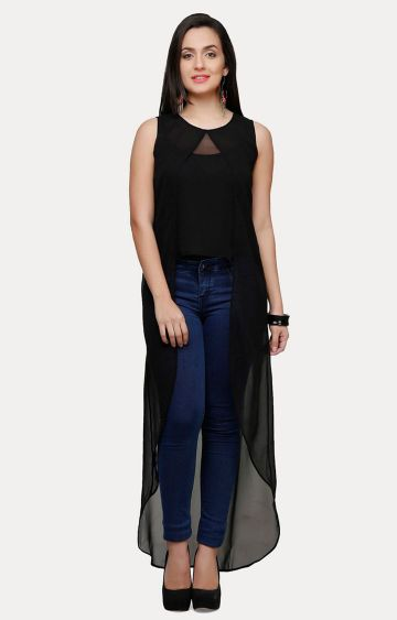 V&M | Black Solid Tunic
