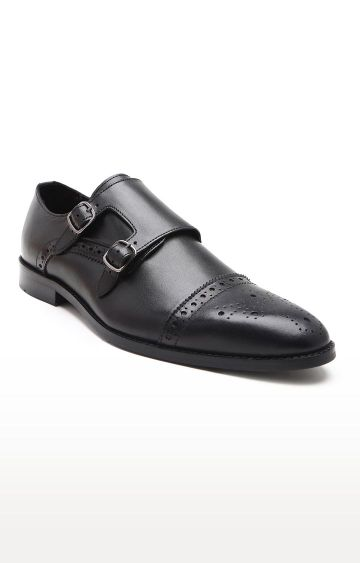 Hats Off Accessories | Black Monk-strap Shoes