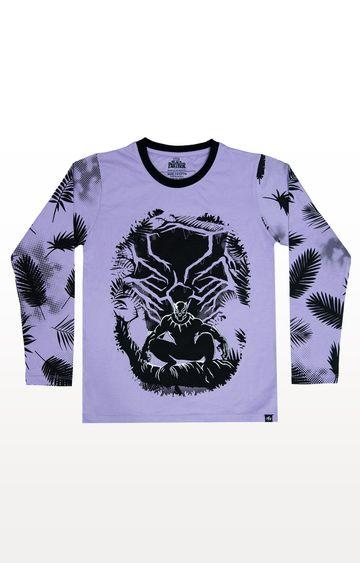 PLANET SUPERHEROES | Purple Black Panther - Predator T-Shirt