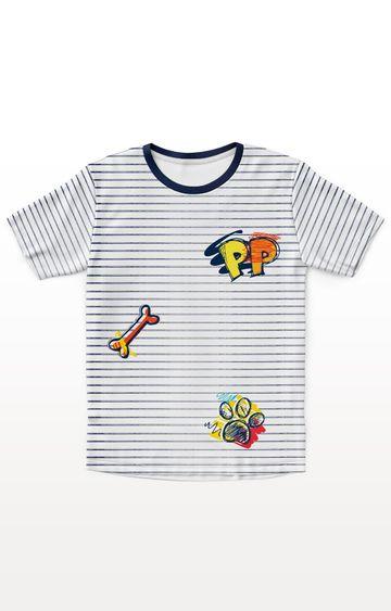 PLANET SUPERHEROES | White Paw Patrol - Doodle Prints T-Shirt