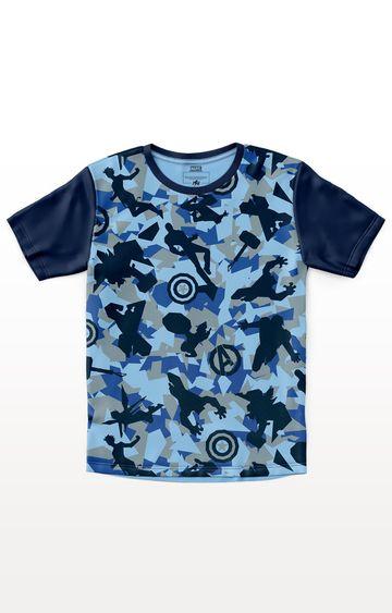 PLANET SUPERHEROES | Blue Marvel - Hero Camouflage T-Shirt