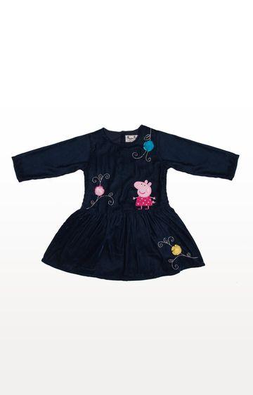 PLANET SUPERHEROES | Blue Peppa Pig - Peppa with Flowers Dress