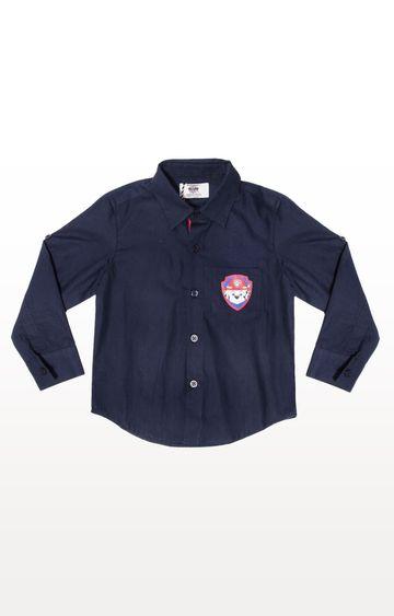 PLANET SUPERHEROES | Navy Paw Patrol - Marshal Patch T-Shirt