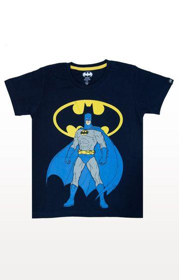 PLANET SUPERHEROES | Navy Batman - Pose with Logo T-Shirt