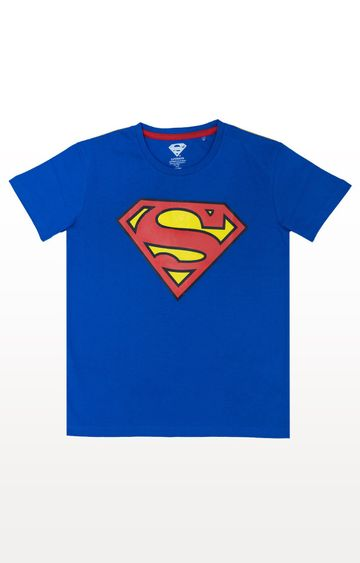 PLANET SUPERHEROES | Blue Superman - Classic Logo T-Shirt