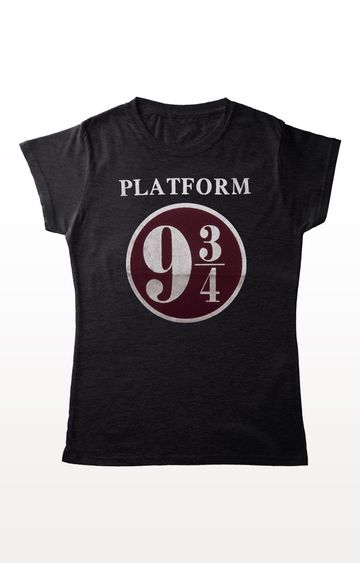 PLANET SUPERHEROES | Grey Harry Potter - Platform 9 and 3/4 T-Shirt