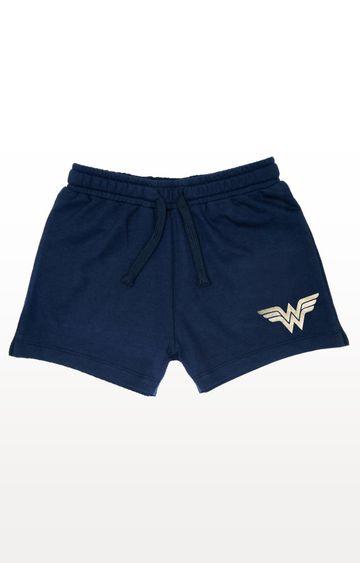 PLANET SUPERHEROES   Navy Wonder Woman - Classic Logo Shorts