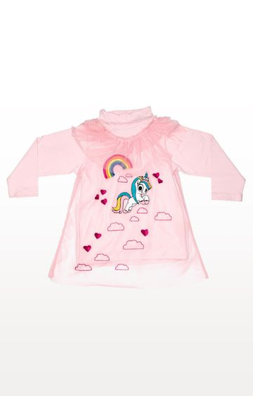PLANET SUPERHEROES | Pink Yana Unicorn - Hearts and Rainbows Top
