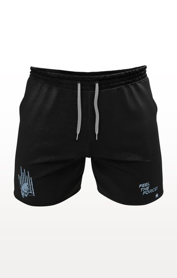 PLANET SUPERHEROES | Black Star Wars Yoda Feel The Force Shorts