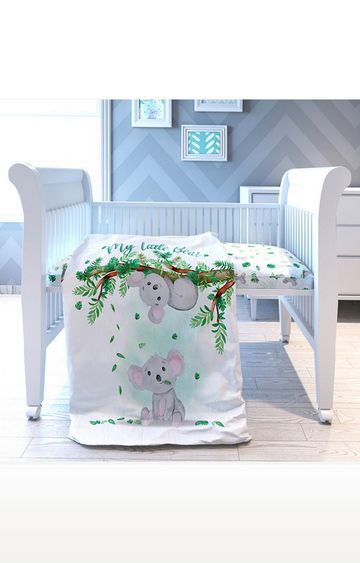 Mothercare | Fancy Fluff 7 Piece Organic Baby Cot Bedding Set - Koala