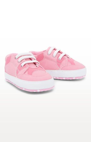 Mothercare | Pink Printed Pram Shoe Trainers