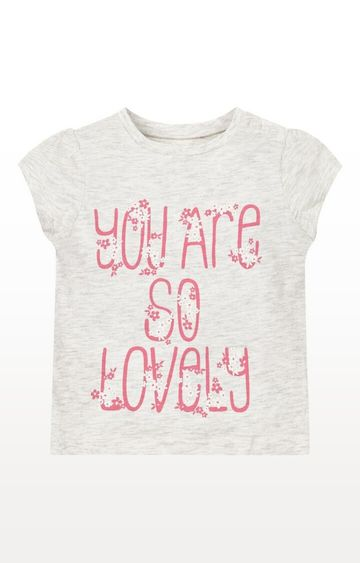 Mothercare | Grey Printed Lovely Print T-Shirt