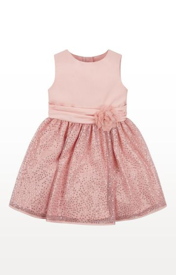 Mothercare | Pink Printed Sequin Dress