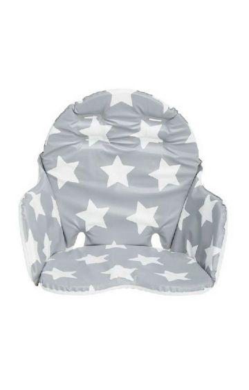 Mothercare | Grey Star Highchair Cushion