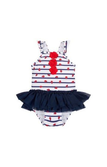 Mothercare | Navy Printed Swimsuit