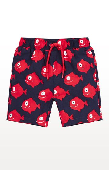 Mothercare | Blue and Red Printed Swimwear Shorts