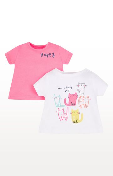 Mothercare | Happy Cat T-Shirts - Pack of 2
