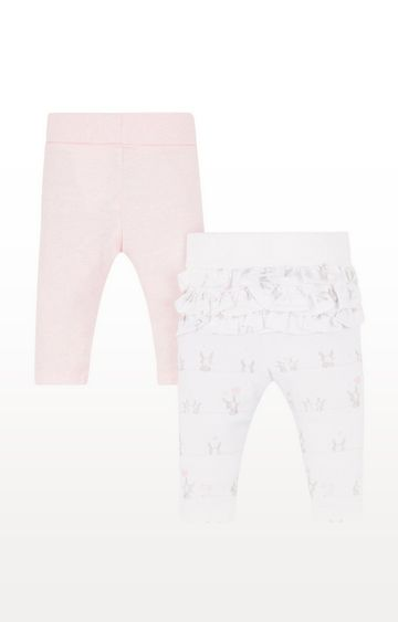 Mothercare | Pink And Frill Leggings - 2 Pack