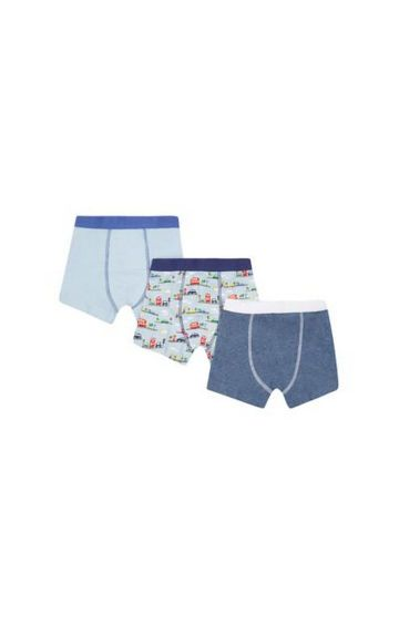 Mothercare | Blue Printed Briefs - Pack of 3