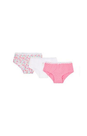 Mothercare | Pink Printed Panty - Pack of 3