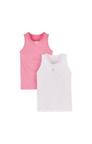 Mothercare | Pink Printed Camisole - Pack of 2