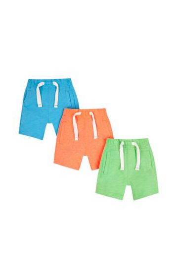 Mothercare | Blue, Orange And Green Shorts - 3 Pack