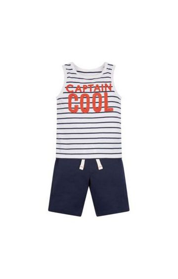 Mothercare | Navy Striped Twin Set