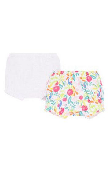 Mothercare | White and Green Printed Briefs - Pack of 2