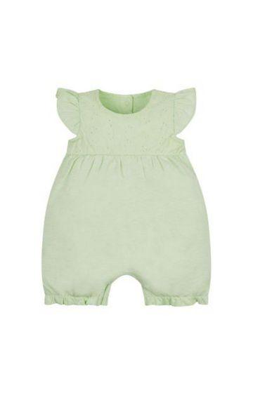 Mothercare | Green Melange Rompers
