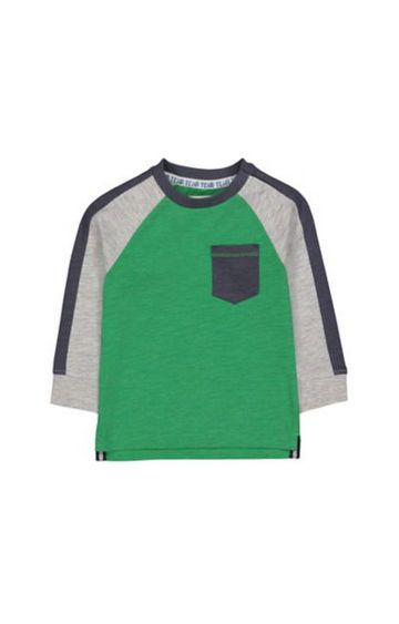 Mothercare | Green Raglan Sleeve T-Shirt