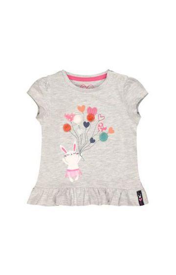 Mothercare   Grey Bunny Balloon T-Shirt