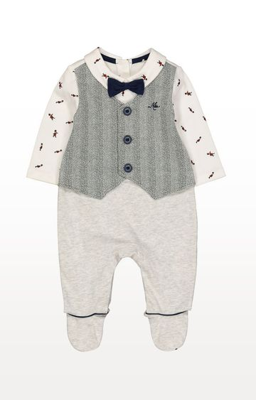 Mothercare | Mock Waistcoat All In One