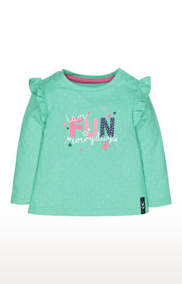 Mothercare | Green Fun Frill T-Shirt