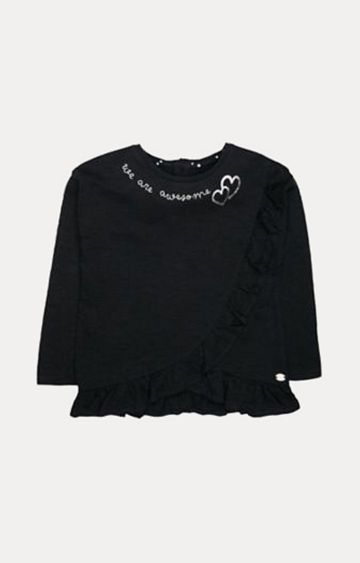 Mothercare | Black Solid Top