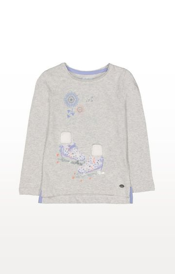 Mothercare   Grey Ice Skates T-Shirt